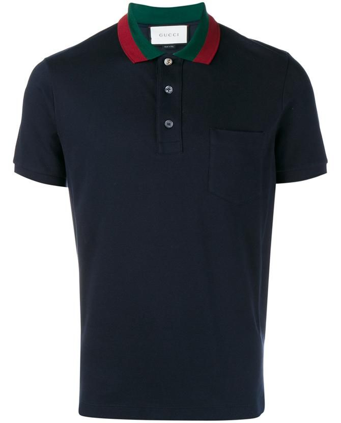 GUCCI Striped Collar Polo T-Shirt.  gucci  cloth     Gucci Men ... b0d72475116