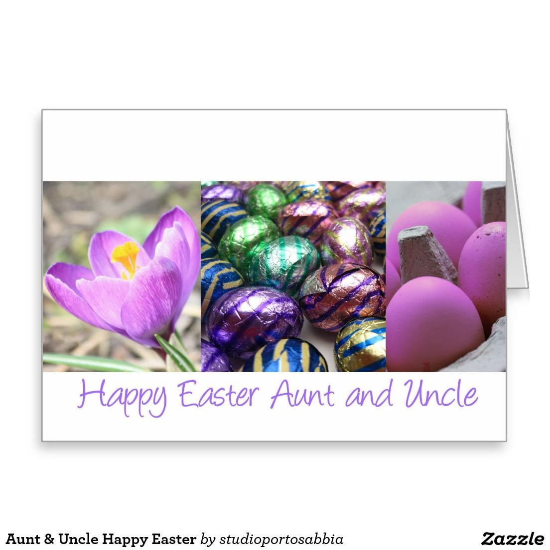Aunt Uncle Happy Easter Greeting Card Shared Board For Greeting