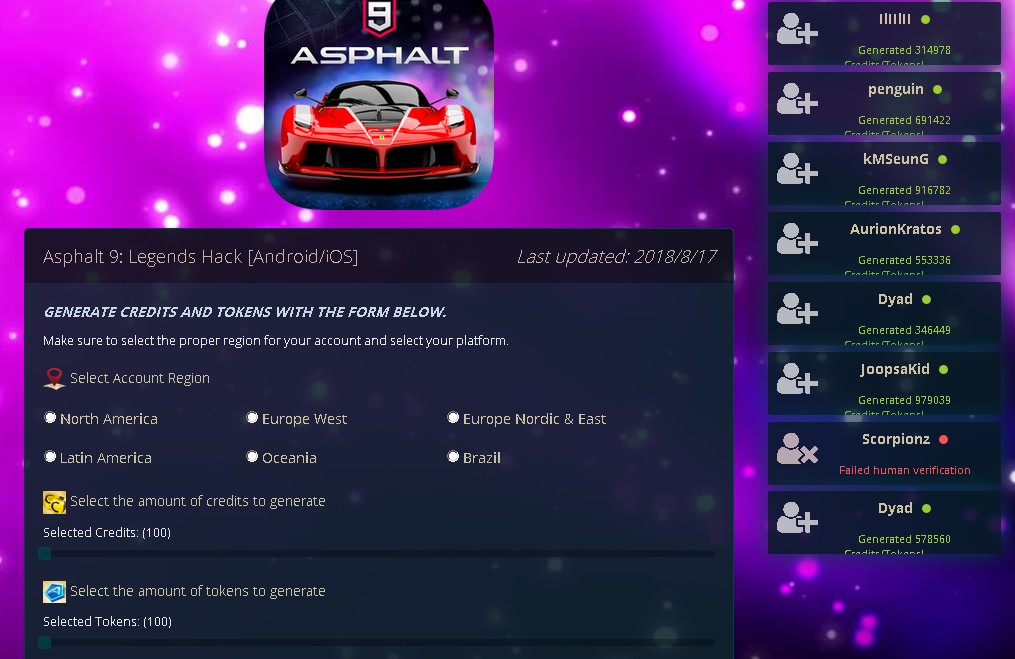 Pin by Hack Free on Asphalt 9 Legends Hack Free Credits and