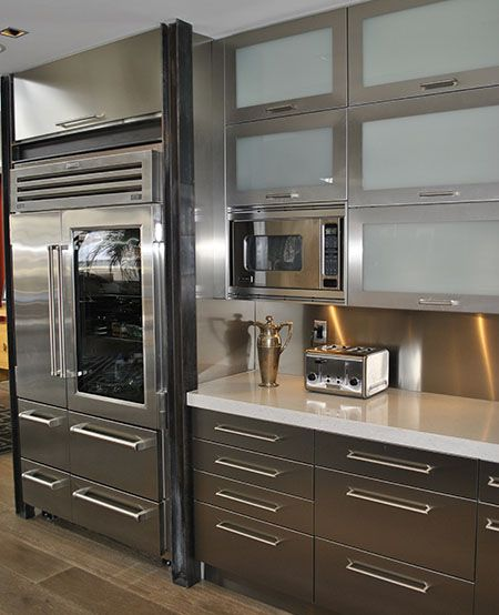 Stainless Steel Kitchen Cabinets From Stainless Steel Cabinet Doors