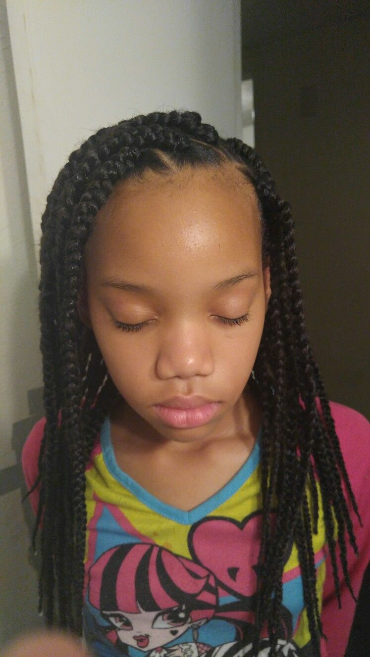 Box braids for little girls  Hairstyles For Little Girls