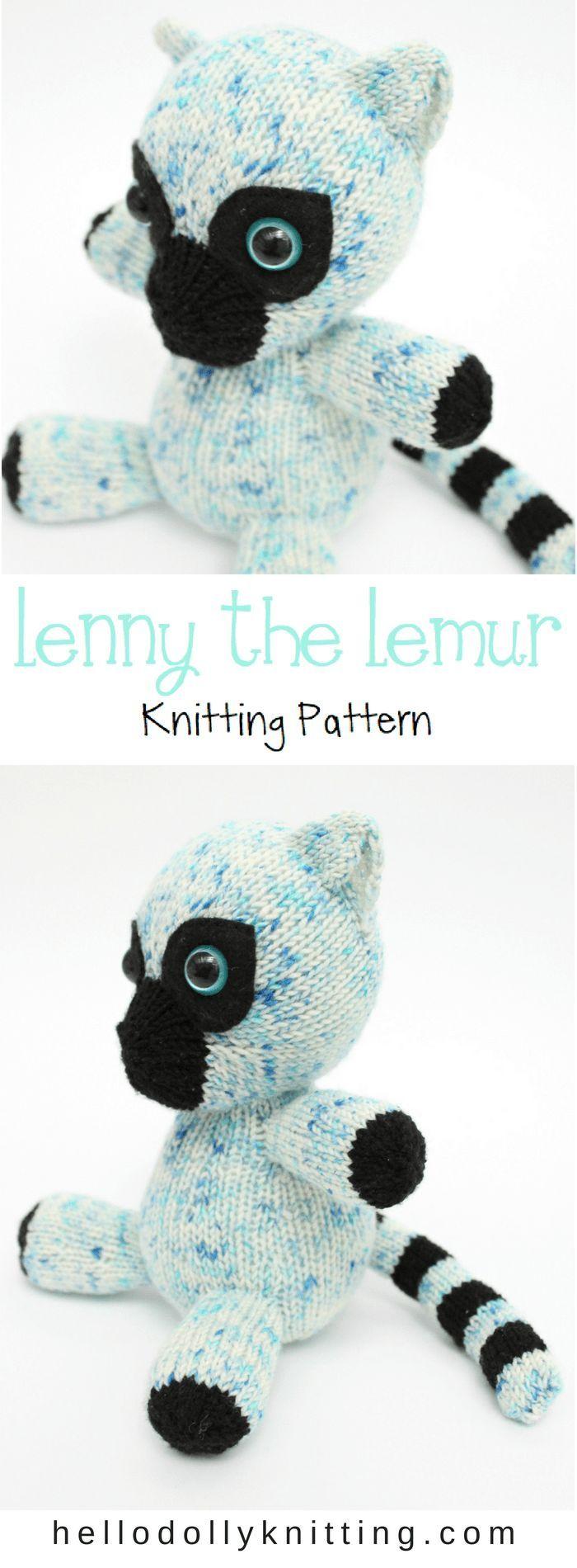 Lenny the Lemur PDF Knitting Pattern by Emily Cridge of   Knitting ...