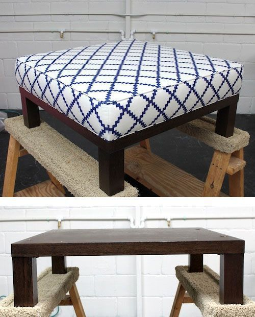 Best Ottoman Diy Turn A Cheap End Table Into A Padded Ottoman 400 x 300