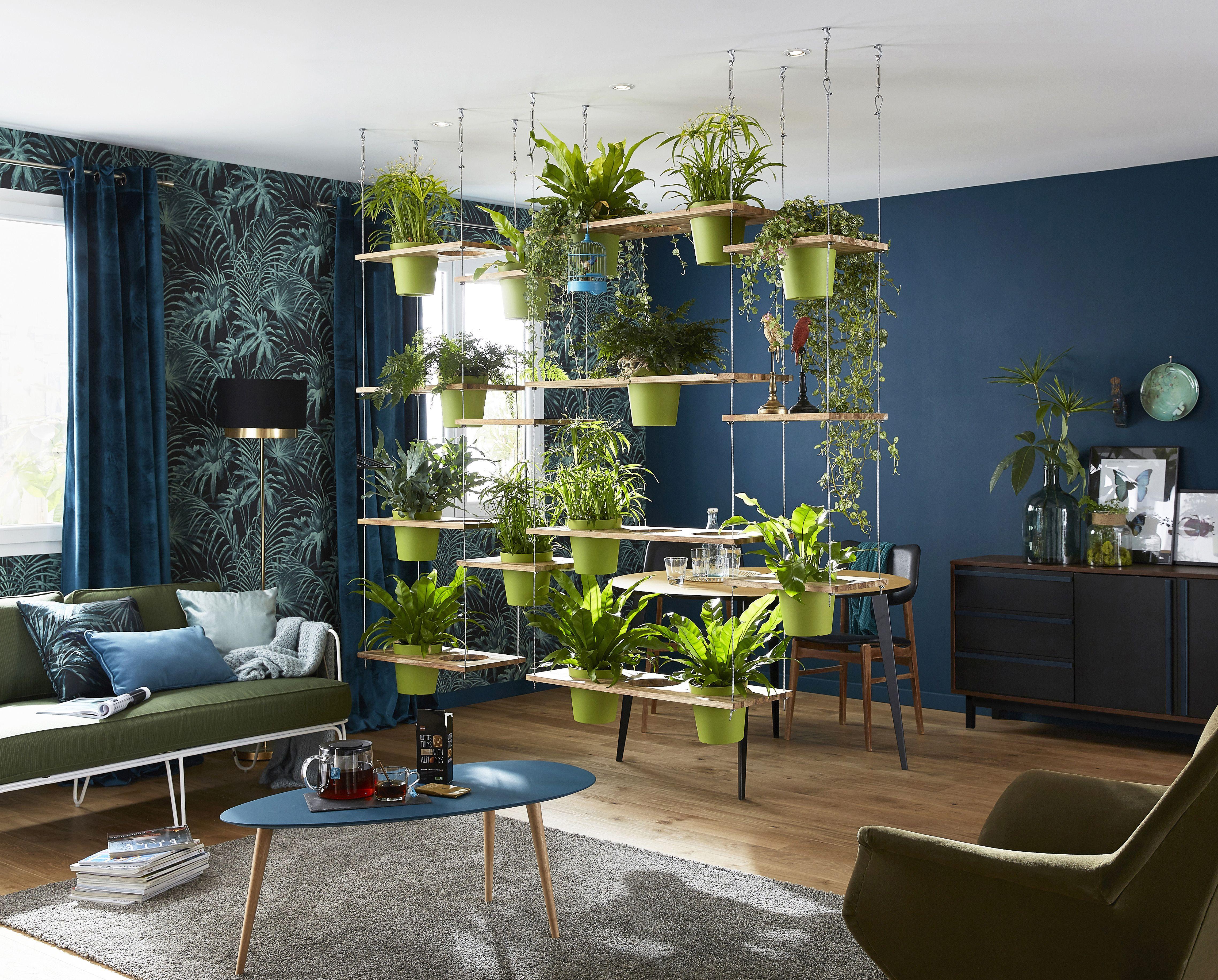 une séparation de pièce végétale originale, design et même un peu