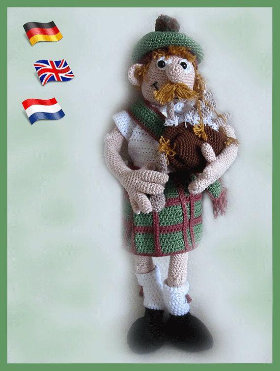 Scotsman Mackenzieamigurumi Doll Crochet Pattern Crocheted Dolls