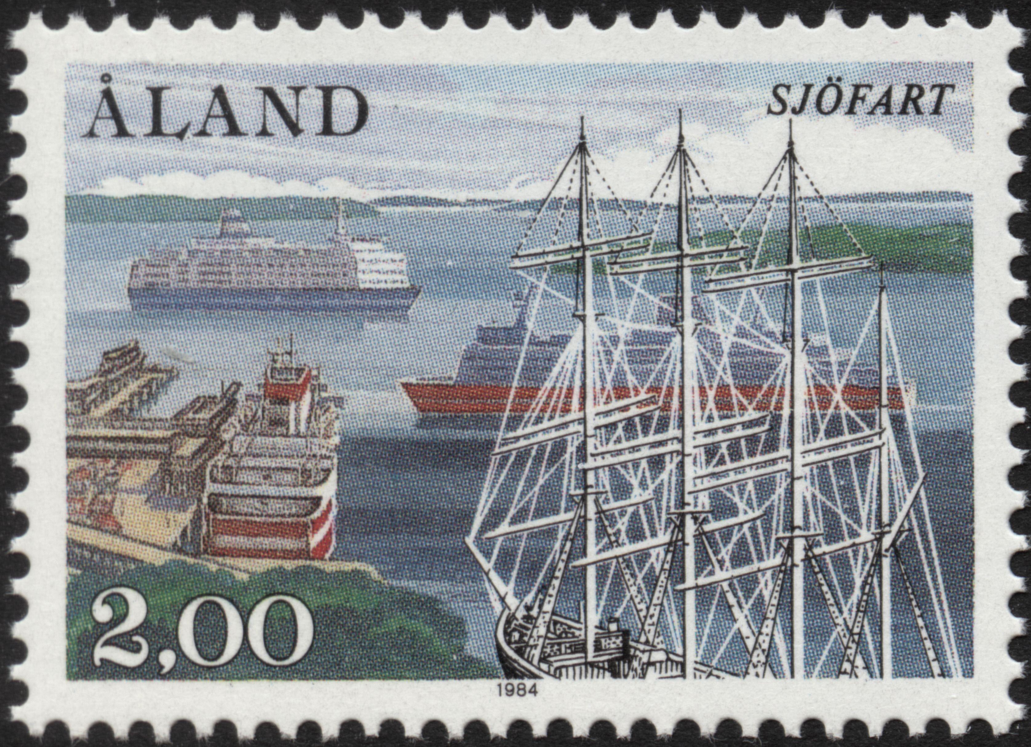 "Åland 2mk 1984 ""Maritime"" [Facit 6, Mi 6, AFA 6, YT 6, SG 16, SC 23]"