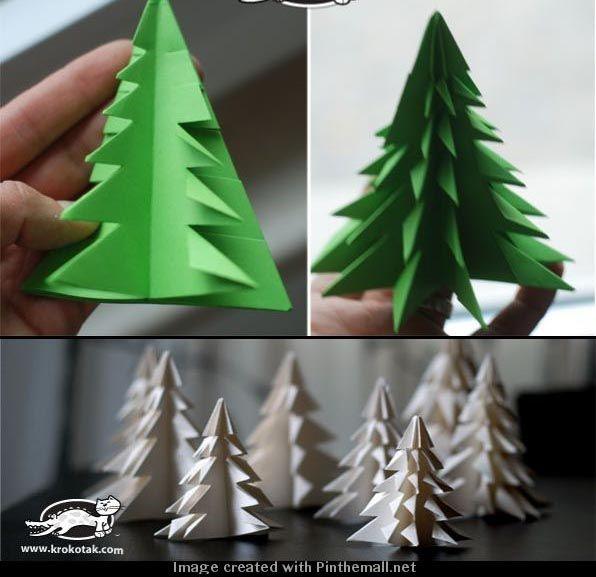 Lavoretti Di Natale Con Istruzioni.Albero Di Natale Con Origami Natale Alberi Di Natale