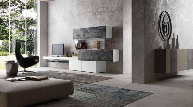 Wandregal Designs Presotto Wohnzimmer | Wandregal Designs Von Presotto Fur Das Moderne Wohnzimmer Interieur
