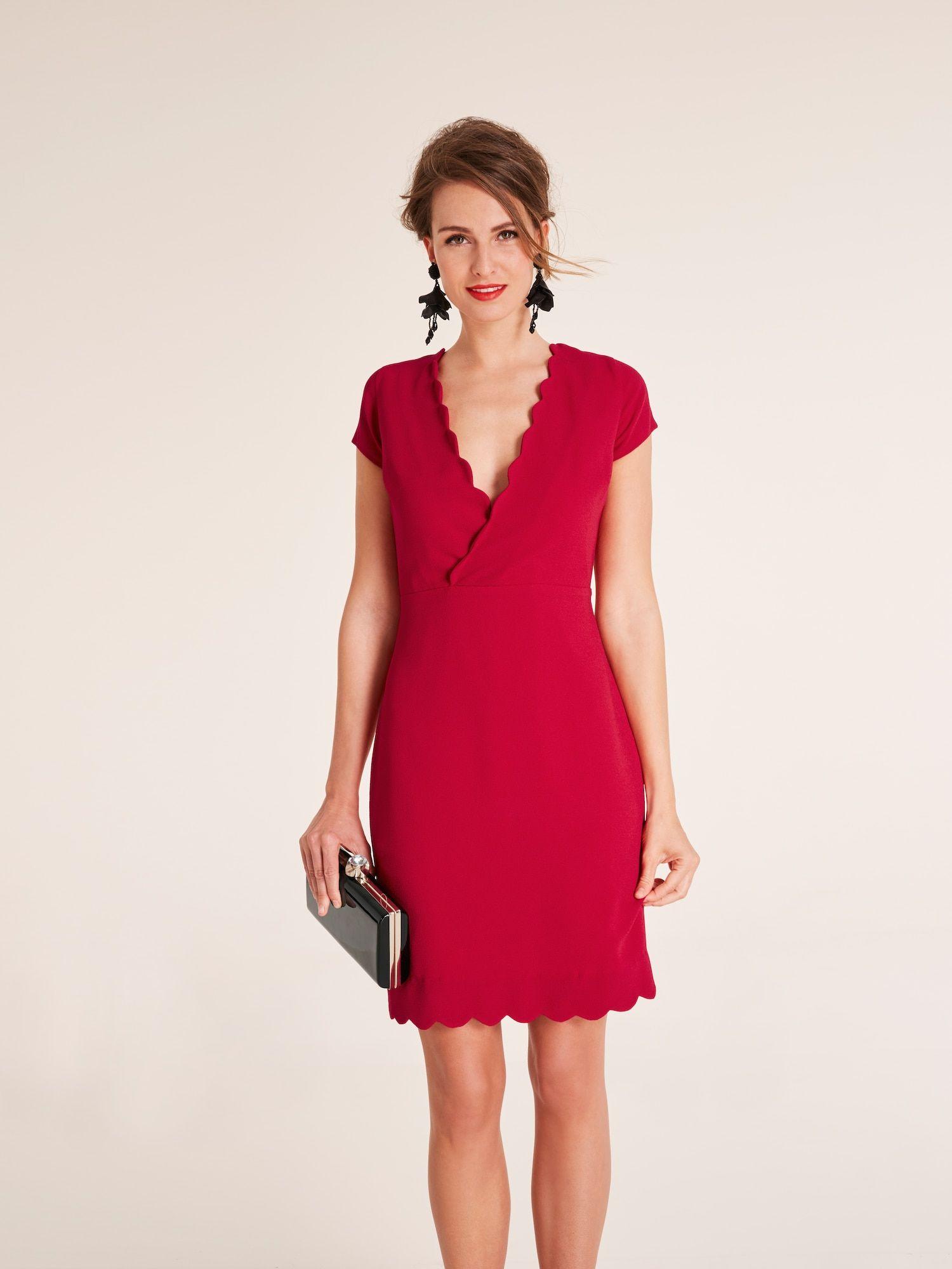 Heine Abendkleid In Rot Etuikleid Kleid Arbeit Und Kleider