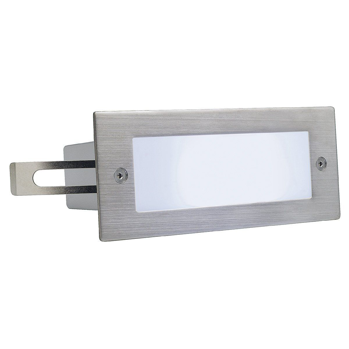 Slv 230231 Brick Led 16 Stainless Steel 304 Wall Light Brushed 1w White Ip44 Steel Silver Grey Recessed Wall Lights Wall Lamp Stainless Steel 304