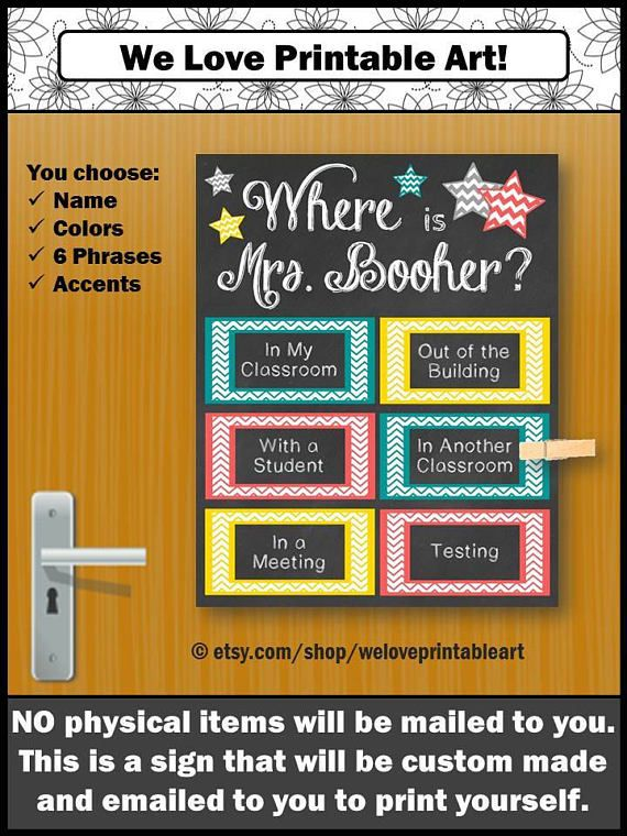 College Signs Decoration Custom Door Decoration School Counselor Gift Guidance  College