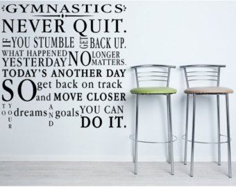 Check Out Gymnastics Vinyl Wall Decal Christian Wall Quote - Custom vinyl decal quotes