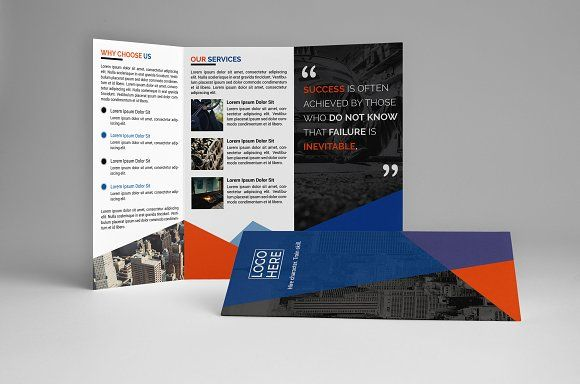 Corporate Trifold Brochure By Assaiv On Creativemarket Brochure - Brochure templates maker