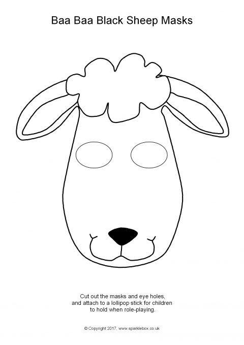 Baa Baa Black Sheep Role-Play Masks – Black and White (SB12095 ...