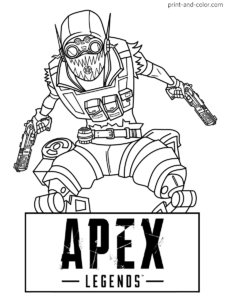 Apex Legends Coloring Pages Print And Color Com Coloring Pages Legend Drawing Colouring Pages