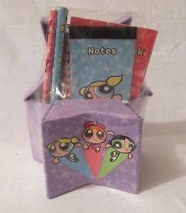 Powerpuff Girls Cartoon Network Pencils Back to School Star Box Notebook WB New | eBay