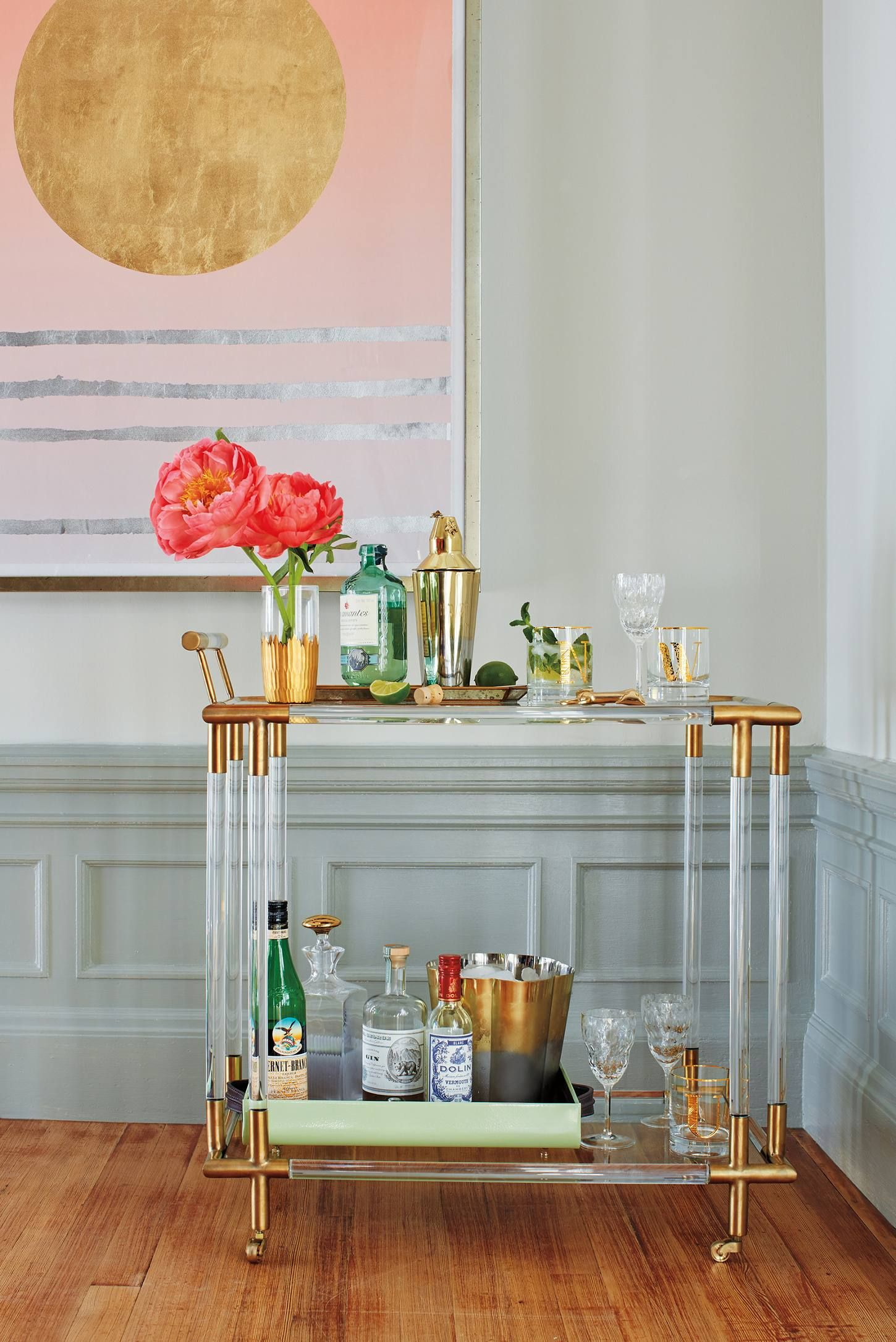Shop the oscarine lucite bar cart and more anthropologie at