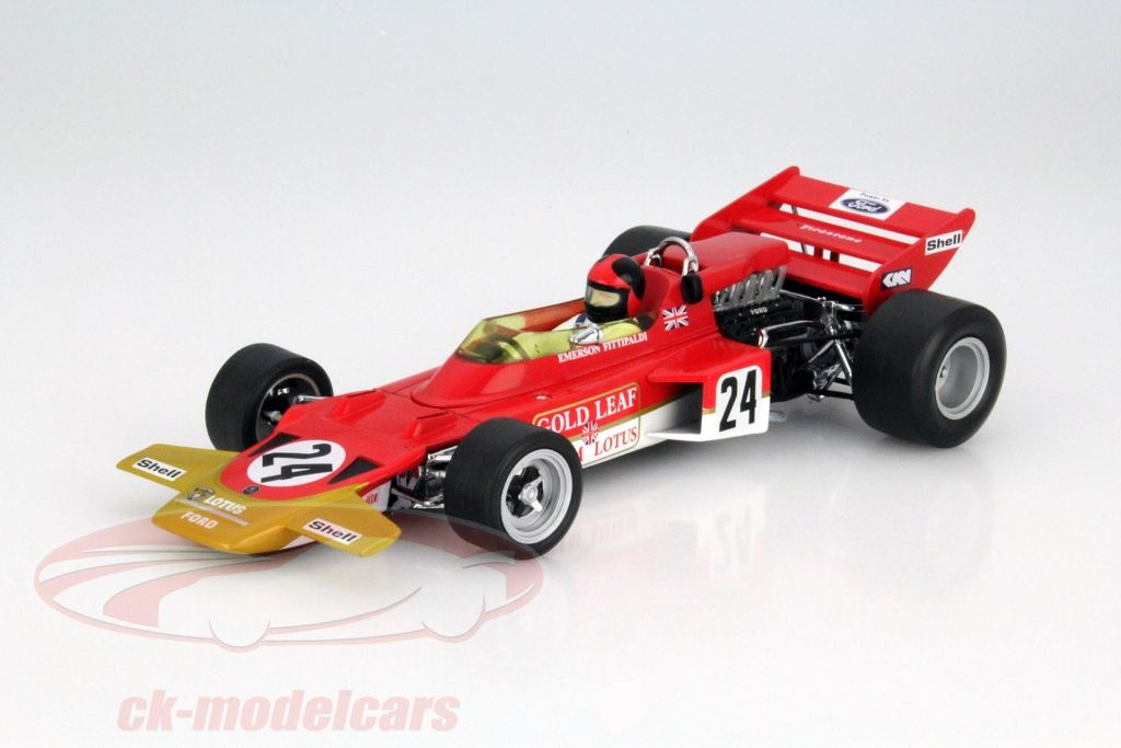 Lotus Type 72C, Winner F1 GP USA 1970, No.24, Emerson Fittipaldi, Lotus-Ford Team. Quartzo, 1/18, Limited Edition 1500 pcs. Price (2016): 60 EUR.