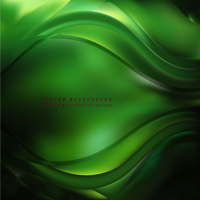Black Green Curve Background Cool Backgrounds Green Vector Free