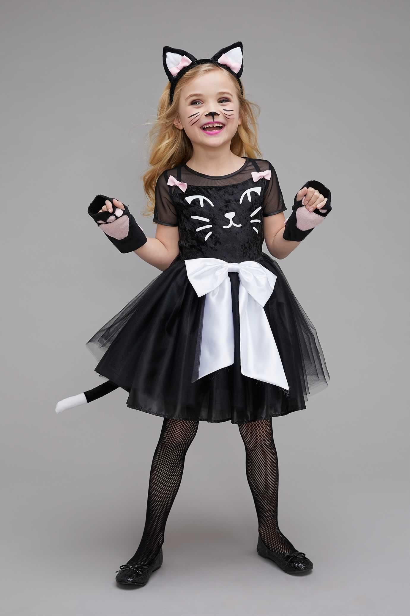 Black Cat Costume For Girls Cat Girl Costume Cat Costume Diy Cat Halloween Costume