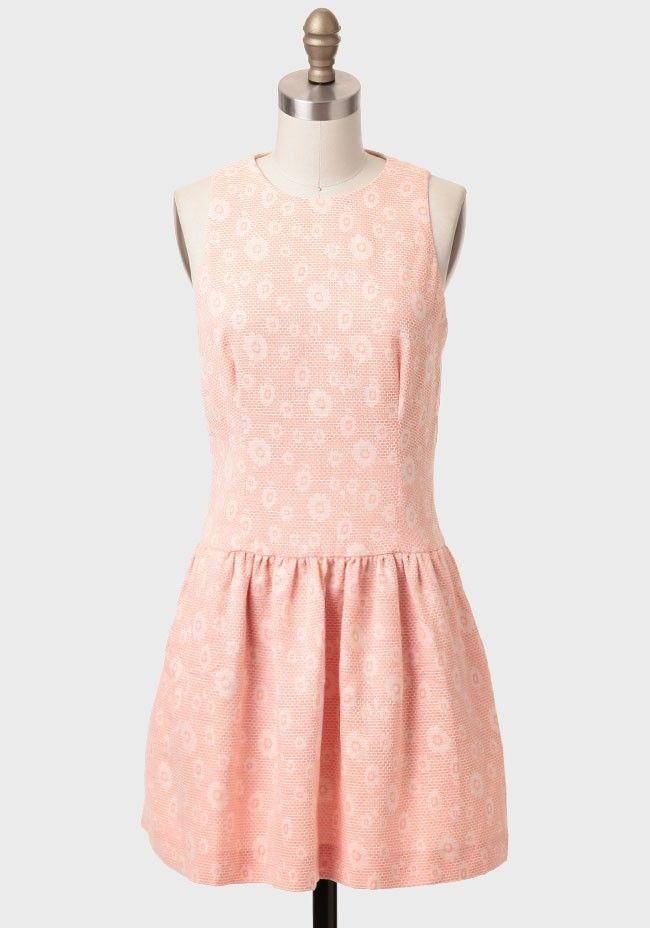 Peach Tart Drop Waist Dress