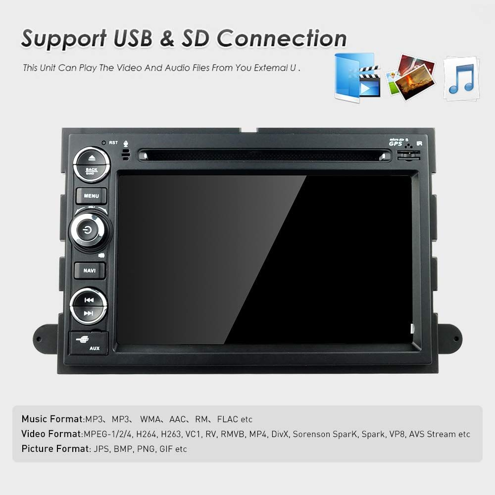 Mcwauto Car Radio Dvd Player For Ford F150 F350 Mustang Edge Explorer 2 Din Car Gps Navigation Radio Receiver Support Swc Dvr Obd2 W In 2020 Gps Navigation Car Gps Gps