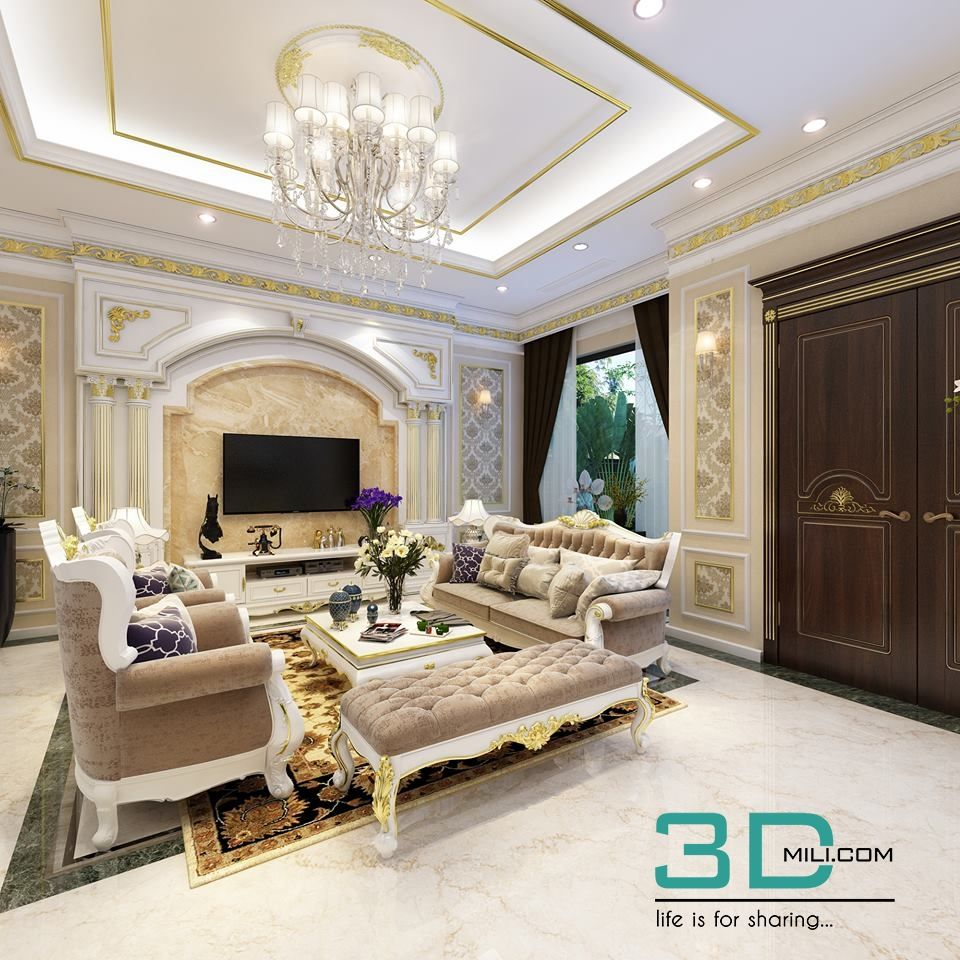 54 Living Room Classic 54 3dsmax File Free Download 3d