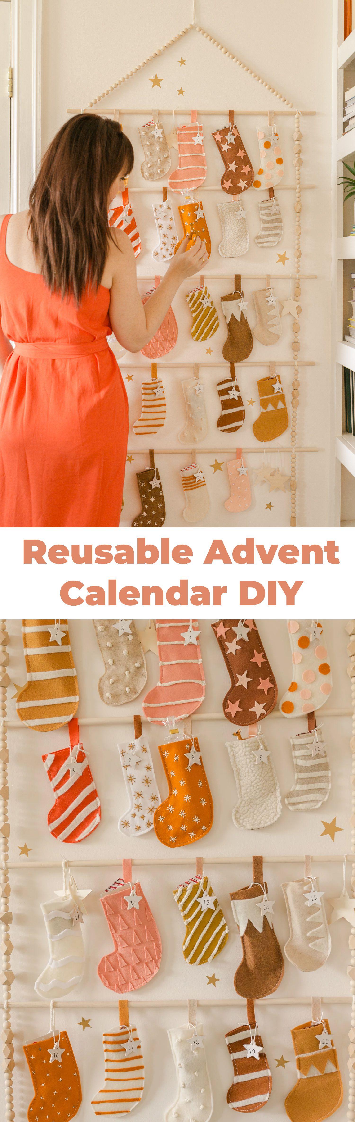 Heirloom Advent Calendar Diy Holiday Spirit