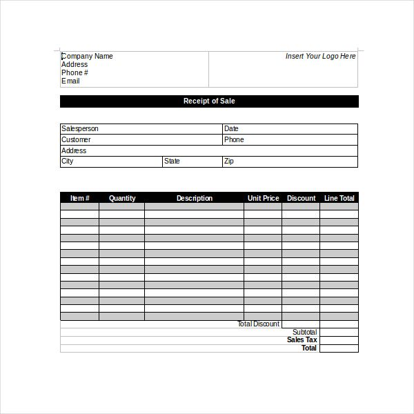 Simple Sales Receipt Templates Businesstemplates Sales Receipt