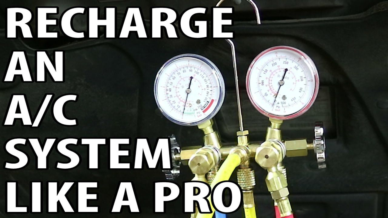 How To Recharge an A/C System Professionally YouTube