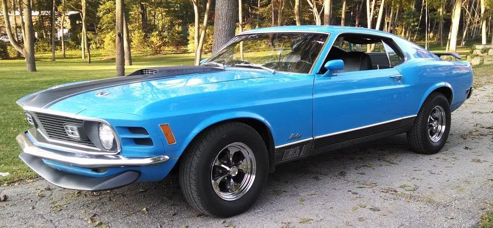1970 Mustang Mach 1, 351 2bbl V8/FMX auto/3.00 Traction-Lok axle w/Keystone classic wheels