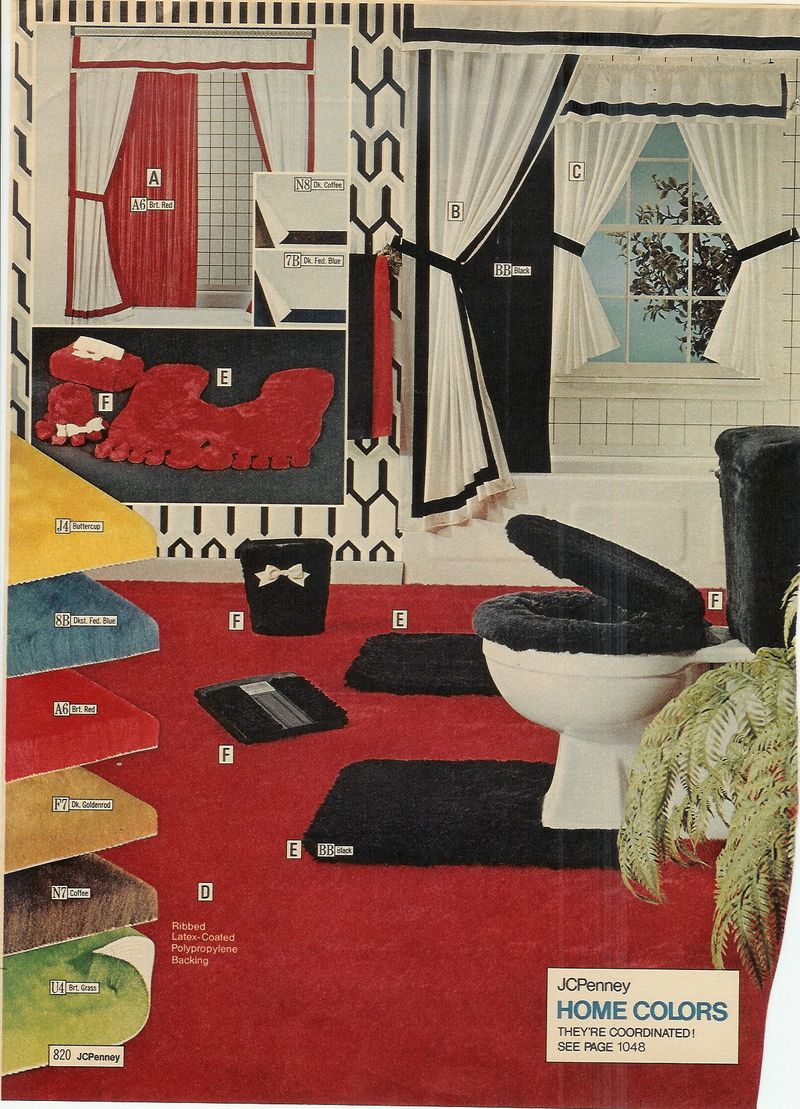 JC Penny Catalog   You Can Carpet Your Entire Bathroom! Note The Bigfoot Rug  In