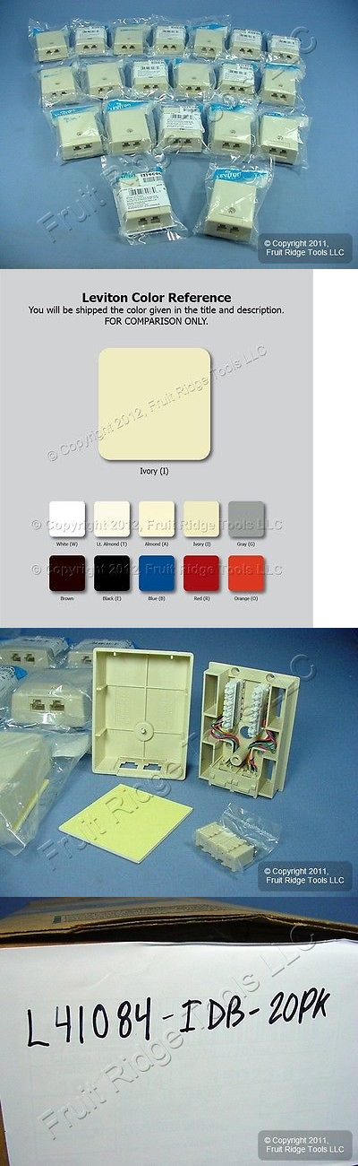 Switch Plates and Outlet Covers 43412: 20 Leviton Ivory Surface ...