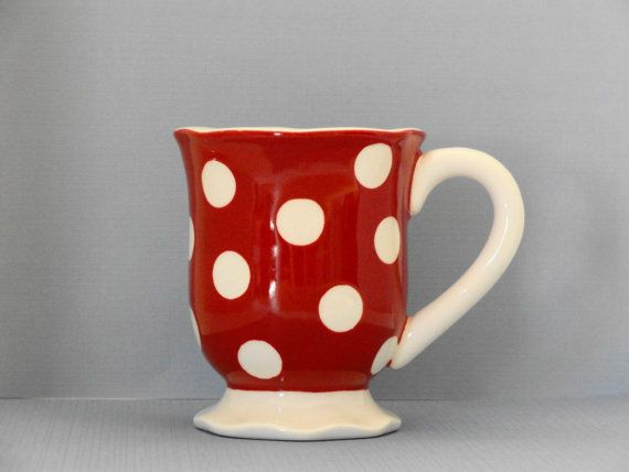 red and white polka dot mug...be still my heart. | Beautiful Words ...
