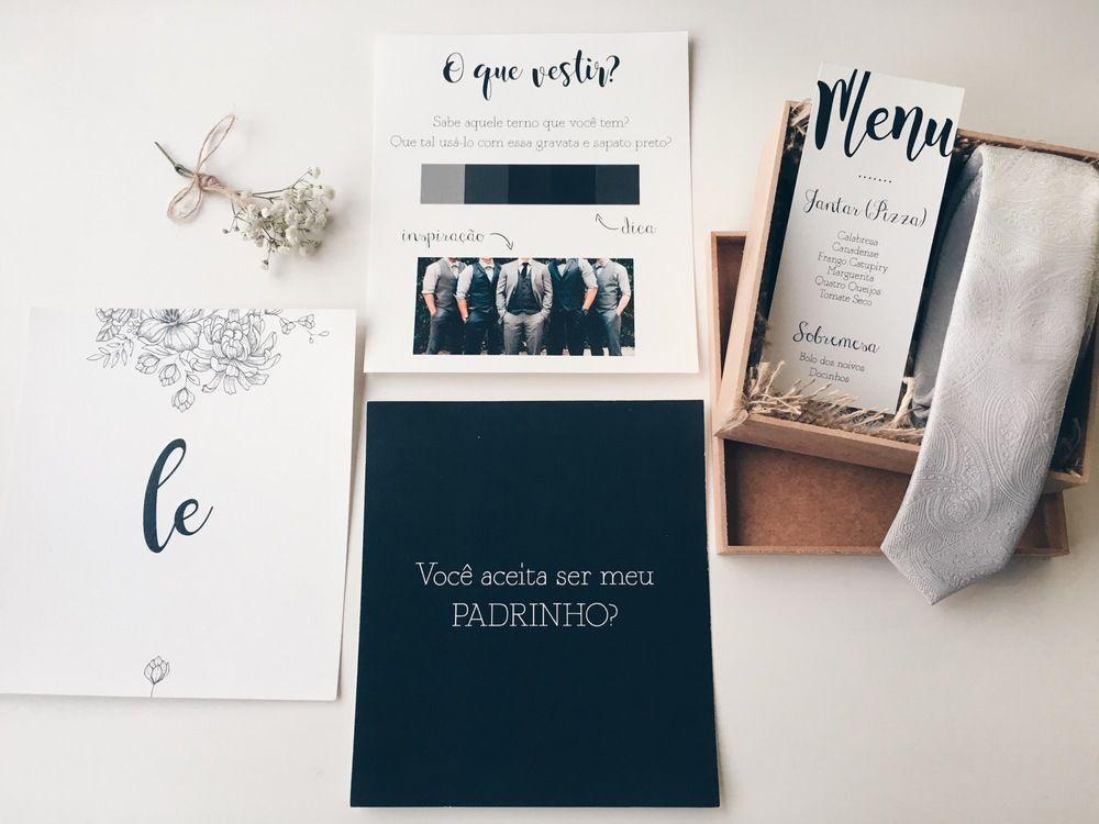 Olha só como fica legal sugerir, dessa maneira, a paleta de cores que você quer que seus padrinhos vistam no dia do seu casamento. <3