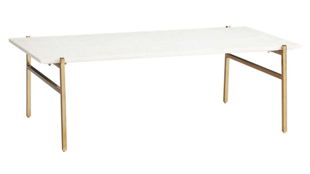Inside An LA Fashion Boutique Thats More Than Just Clothing - Cb2 slab marble coffee table