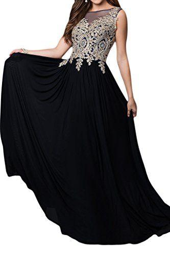 Abendkleider lang schwarz amazon