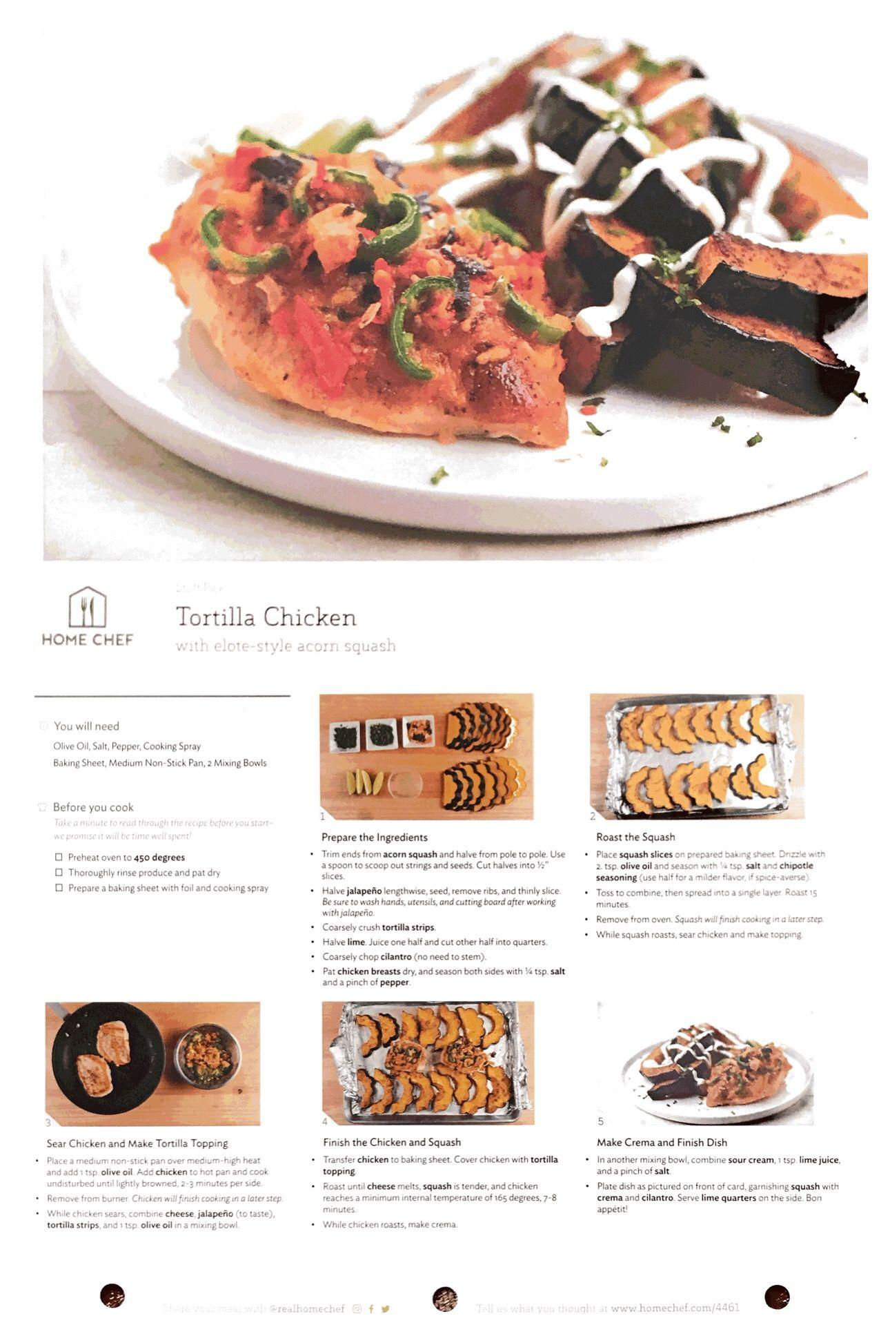 Tortilla Chicken With Elote Style Acorn Squash Acorn Squash