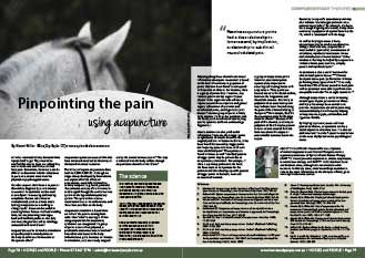 Pinpointing the pain using Acupuncture