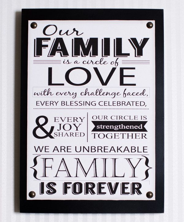 Look at this Adams & Co. \'Our Family\' Wall Sign on #zulily today ...
