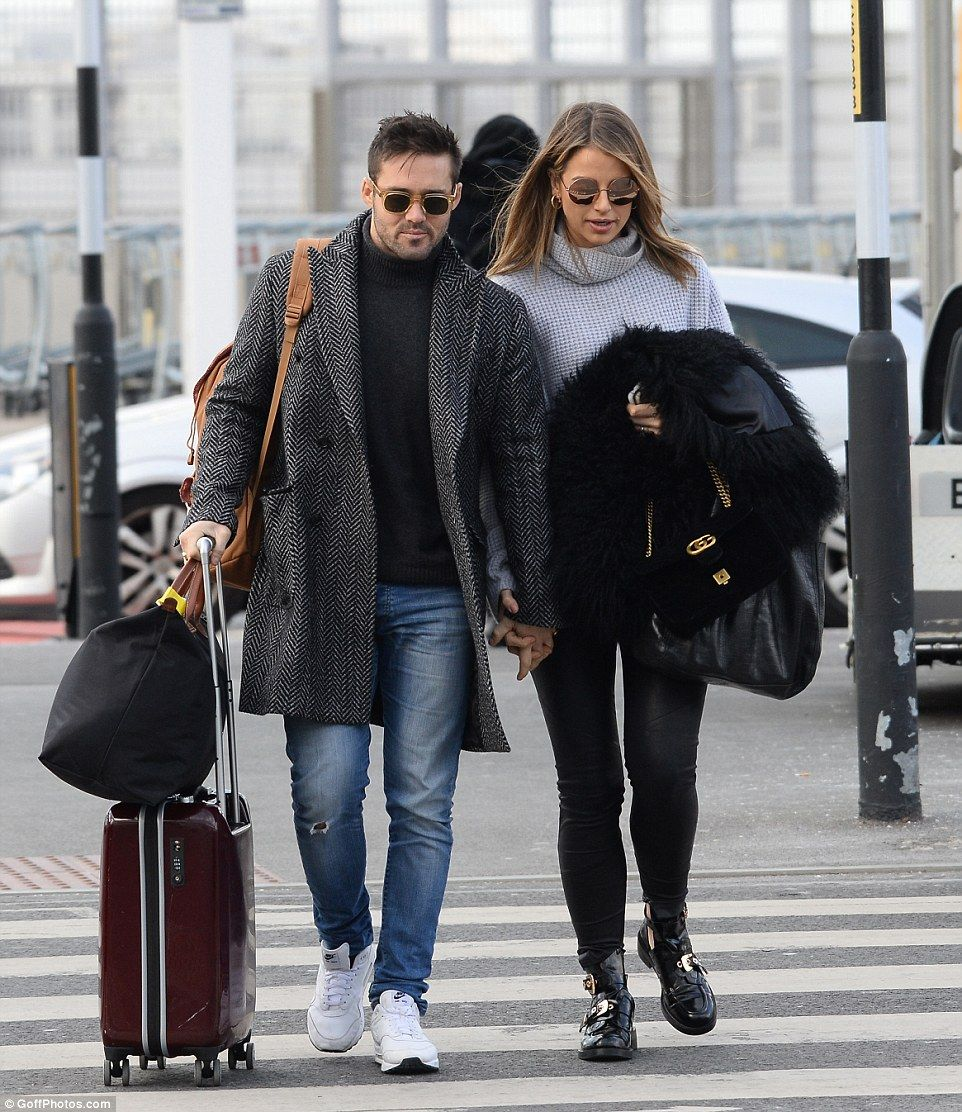 Time to celebrate! Spencer Matthews appeared to be whisking fiancee Vogue Williams away to...