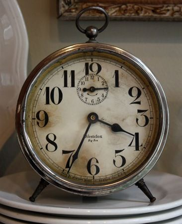 A Few New Old Things Vintage Clock Vintage Alarm Clocks Old