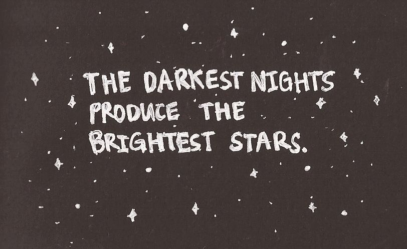 Shine bright even through the darkest nights #inspiration #faith #hope