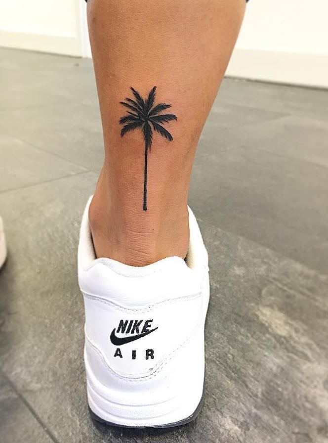 palm tree tattoo black and gray tattoos pinterest palm tattoo rh pinterest com palm trees tattoos designs palm tree tattoos on ankle