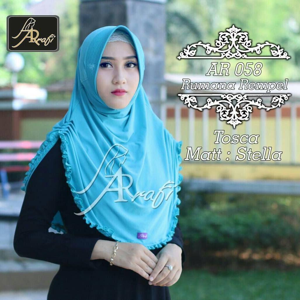 Wa 081542846069 Hijab Ar Rafi 058 P Material Jersey Harga Umama Noor Jilbab Kerudung Segiempat