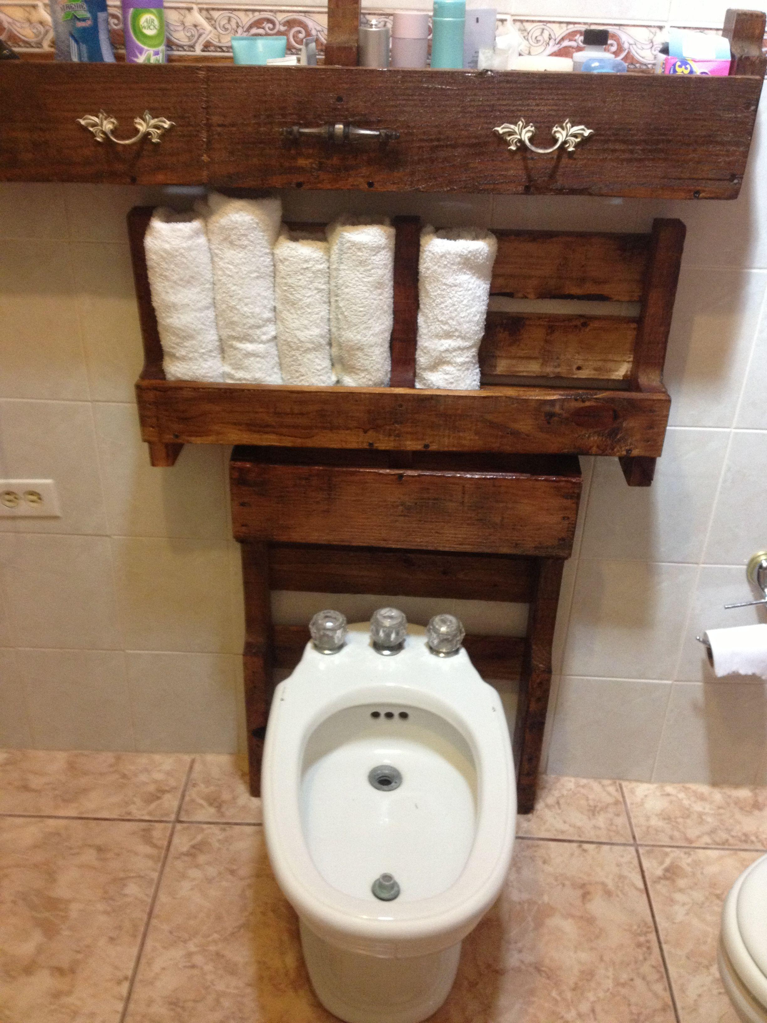 Muebles De Baño Reciclados:Pallet Stuff, Materials, For, Head On, Bath, Made, Proyectos Hechos