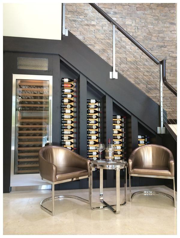Rangement Bouteilles De Vin Cave A Vin Amenagement Escalier
