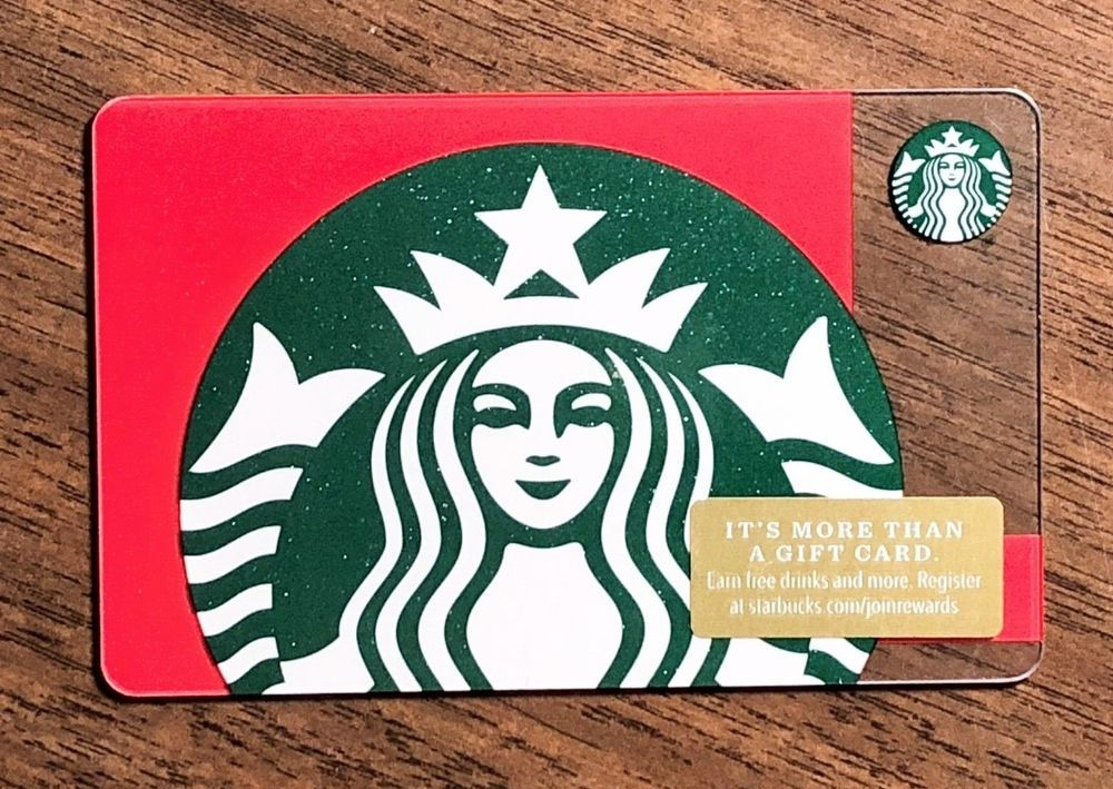 Starbucks Gift Card 2018 New Siren Logo Green Red Starbucks Gift Card Starbucks Card Cards