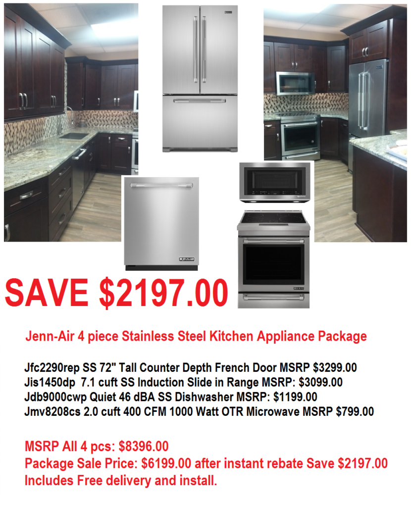 Kitchenaid Black Stainless Steel Complete Kitchen Package: Jenn-Air 4 Piece SS Kitchen Appliance Package Save $2197.00