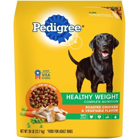 Pedigree Healthy Weight Roasted Chicken Rice Vegetable Flavor